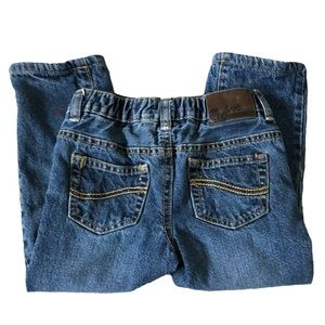 Lee Straight Leg Relaxed Fit Lined Blue Jeans 3T